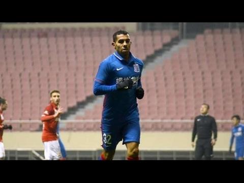 Carlos Tevez hizo su primer gol en China en un amistoso