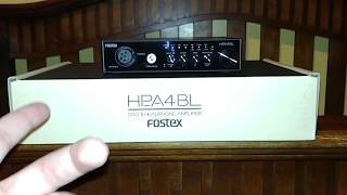 My First Impression of the Fostex HP-A4BL