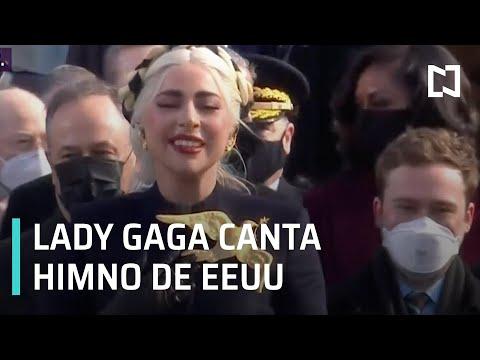 Lady Gaga entona el Himno Nacional de EEUU - Las Noticias