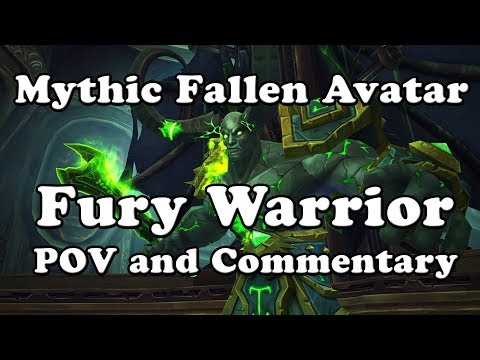 Mythic Fallen Avatar Fury Warrior POV and Commentary