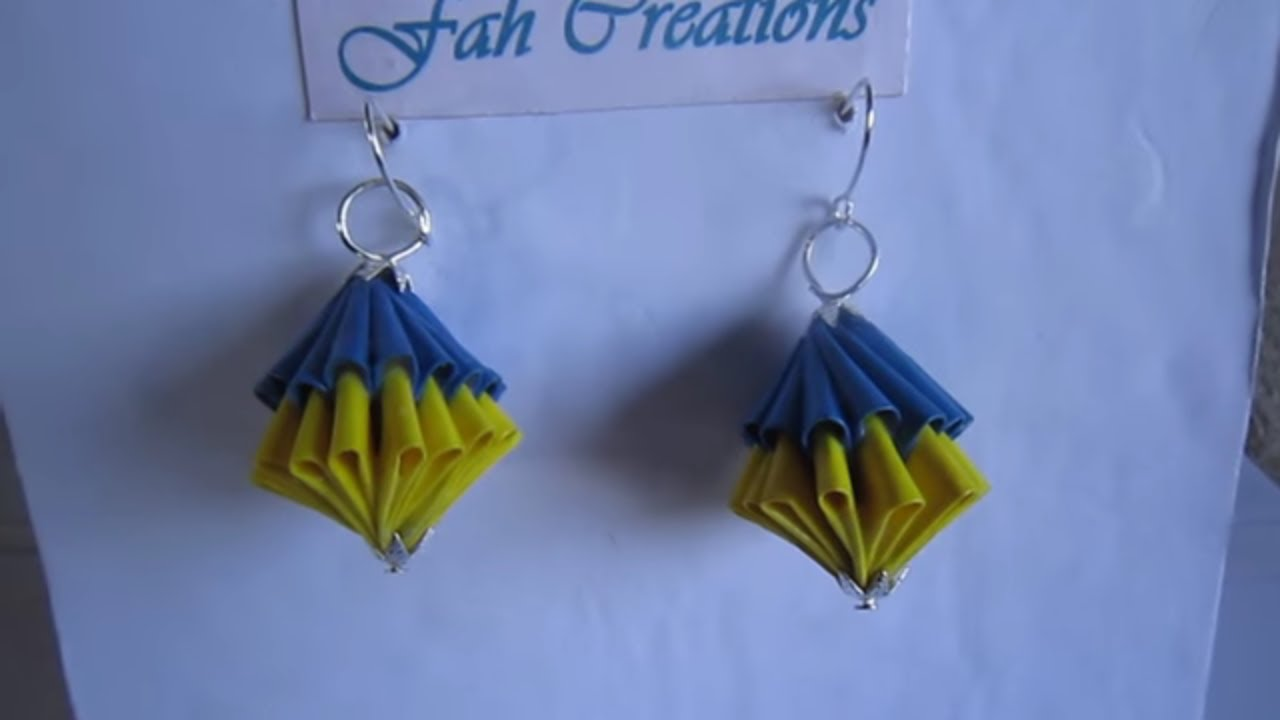 Eccezionale Handmade Jewelry - Origami Paper Unit Diamonds Earrings (T2) - Not  HR79