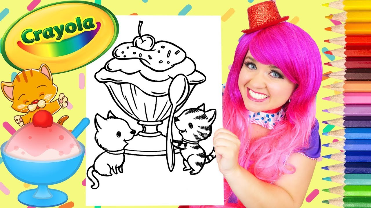 Coloring Ice Cream Kitty Cats Crayola Coloring Page