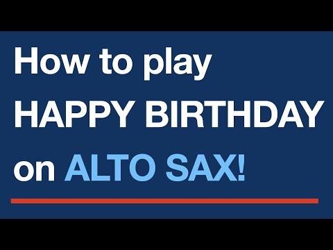 Happy Birthday To You - Alto saxophone sheet music notes
