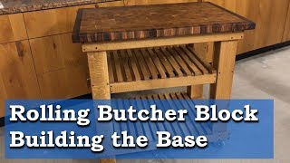 Butcher Block Countertop - Rolling Base