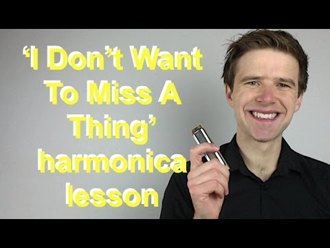 I Dont Want To Miss A Thing Aerosmith diatonic harmonica lesson  90s week!