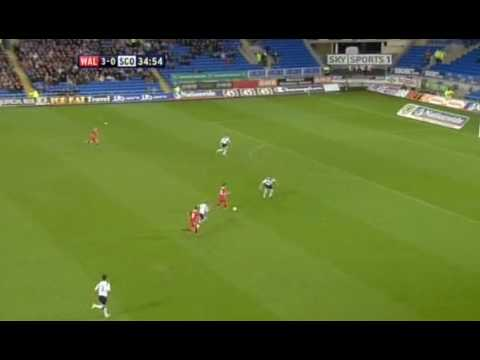 Wales vs Scotland 14-11-2009 (Ramsey Goal)