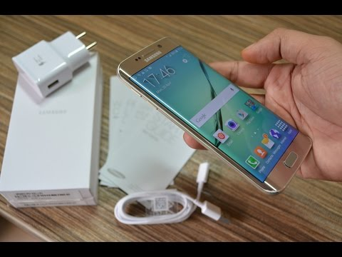 Samsung Galaxy S6 Edge Unboxing [Gold Platinum] + First Impressions! | Indian Consumer