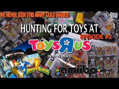 Toys R Us Toy Hunt #2 Power Rangers, NEW Amiibo, A Ton Of Gold Mario Amiibo