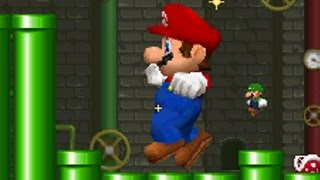 (Tüm Aşamaları)New Super Mario Bros DS - Mario vs Luigi Modu