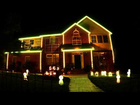 2013 Halloween Light Show - Who's Watching...