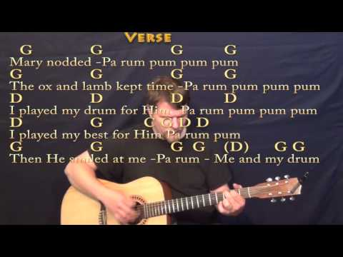 Little Drummer Boy - Strum Guitar Cover Lesson in G with Chords/Lyrics