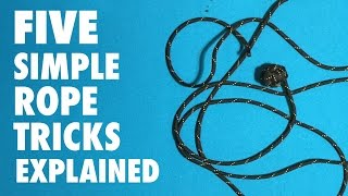 5 Easy Rope Tricks That You Can Do.