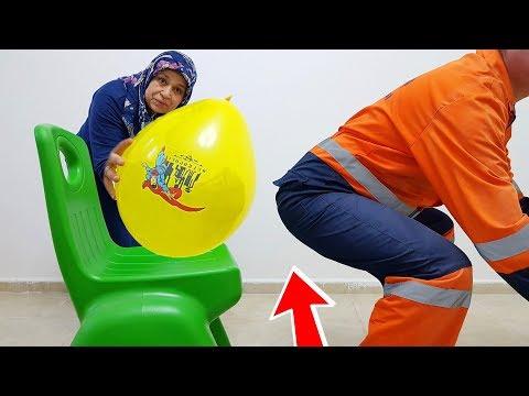 İn The Home BALLOON İn PRANK! Kerem Ice Balloon Bursting Under, joke, KEREM'İN JOKE 9