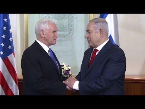 Proteste bei Besuch von US-Vizepräsident in Jerusalem