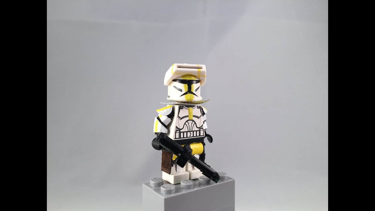 Lego Star Wars minifigures Commander Bly Phase 1 Clone Custom Troopers