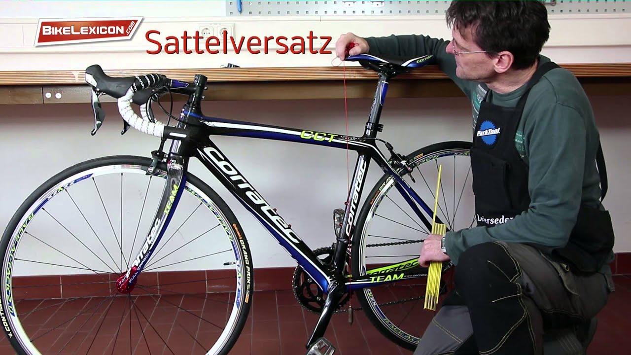 Rahmengeometrie, Geometriedaten vom Fahrrad messen - YouTube