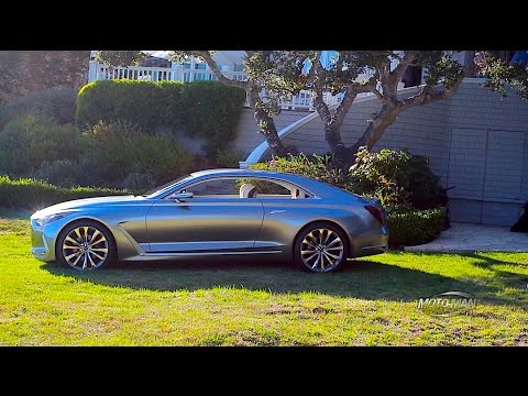 Hyundai Vision G Concept Car with Peter Schreyer from Pebble Beach Concours d'Elegance 2015