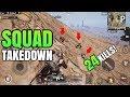 SQUAD TAKEDOWN! | 24 Kills Solo VS Squad | PUBG Mobile
