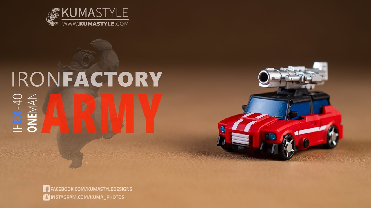 New Iron Factory IF EX-40 Mini One Man Army Figure In Stock