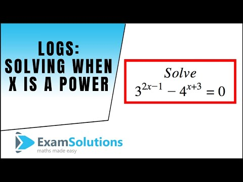 Logs - How to solve equations where x is in the power : ExamSolutions Maths Revision