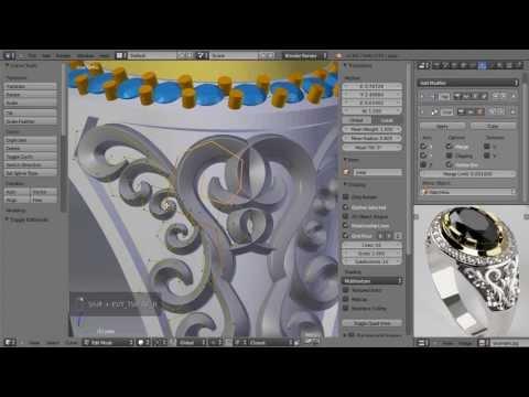 Курс моделирование ювелирных изделий в Blender