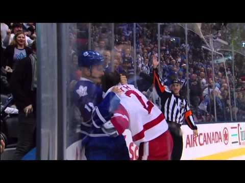 Kadri EN Goal & Richard Panik vs Brendan Smith - Red Wings 1 vs Leafs 4 - Dec 13th 2014 (HD)