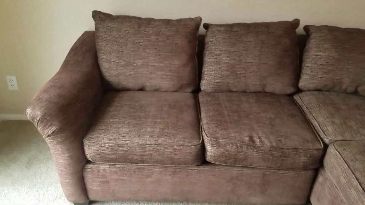 Nice Sectional Sofa Couch By Rowe Furniture Made In Usa Youtube