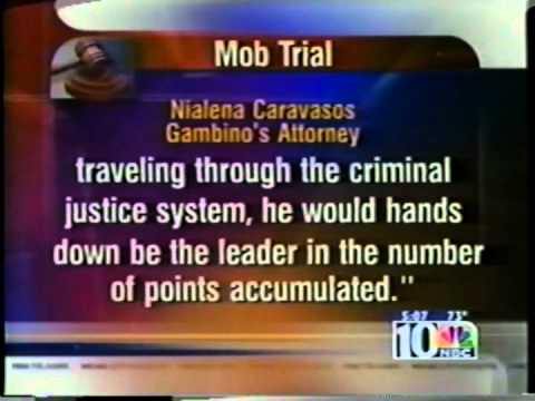 NBC News Coverage of attorney NiaLena Caravasos representing Frank Gambino in federal RICO organized crime trial of United States v. Joseph Merlino et al.