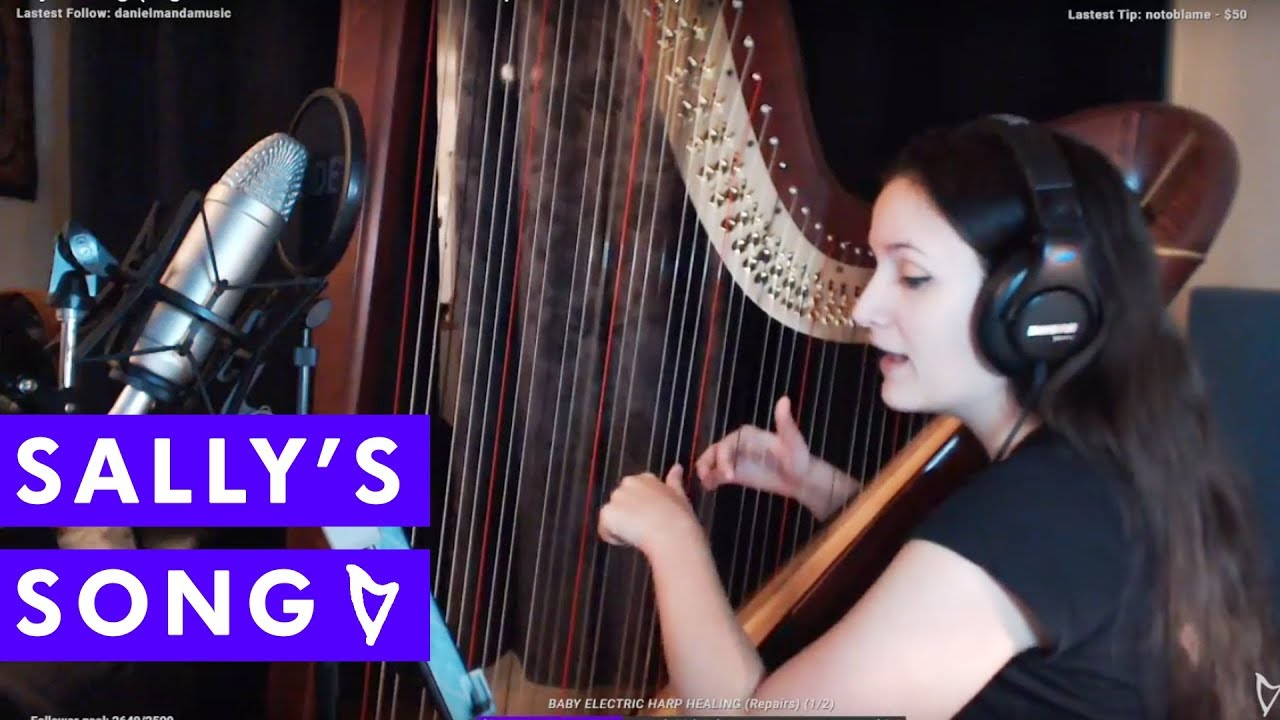 Sally\'s Song (Nightmare Before Christmas Harp + Voice Cover) - YouTube