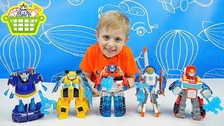 Трансформеры спасатели Оптимус Прайм и Бамбл Би - Playskool Heroes Transformers Rescue Bots Energize(, 2016-06-04T12:16:03.000Z)
