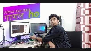 Amazon Alexa echo Dot  review with fun style !! HINDI