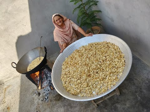 BANANA CHIPS Prepared By My GRANNY | ASMR CRUNCHY | Village cooking | Village Food | Recipe