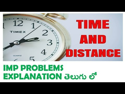 Time And Distance Imp Problems In Telugu PART 1 | rrb | postal | ssc | banks
