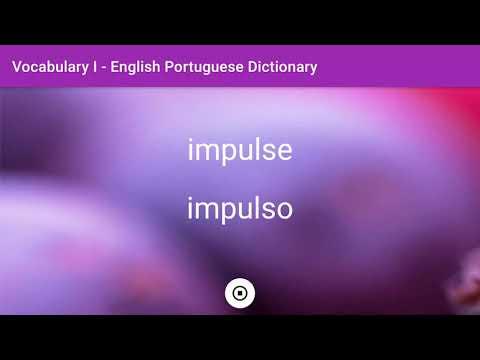 English - Portuguese Dictionary - Vocabulary I