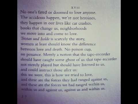 Adrienne Rich reads from Twenty-One Love Poems