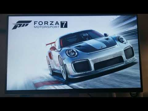 Xbox One X with Freesync Monitor 4K Test LG UD69P 27 inch Part #1