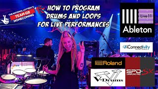 Live performance programming of Drums & Loops with Ableton Live 11