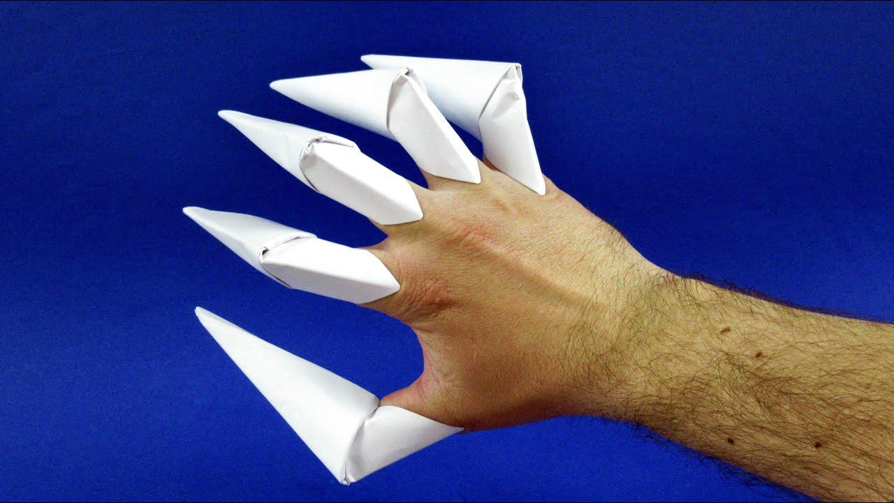 Как сделать оригами когти из бумаги инструкция