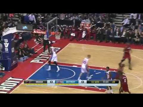 Miami Heat vs Detroit Pistons | March 28, 2014 | NBA 2013-14 Season