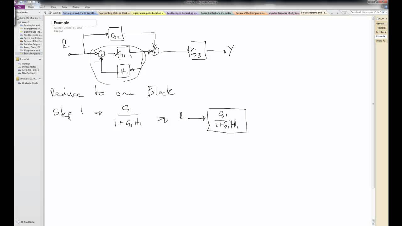 Block Diagram Reduction part 2 example  YouTube