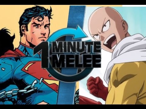One Minute Melee Superman VS Saitama DC Comics Punch Man
