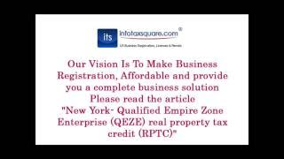 New York  Qualified Empire Zone Enterprise QEZE real property tax credit RPTC