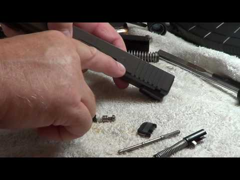 Glock firing Pin Removal - Cleaning & Removing The Glock Firing Pen From Slide