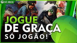 JOGOS GRANDES pra JOGAR de GRAÇA no XBOX ONE e XBOX SERIES na boa e antes do LANÇAMENTO!