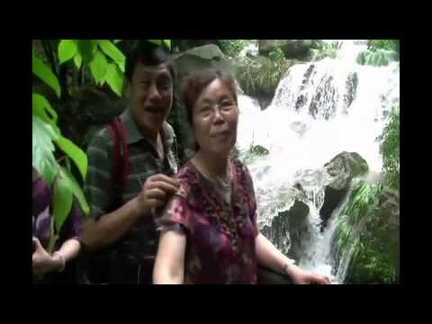 Strolling along the beautiful Chinese cascade in hangzhou(杭州),Zhejiang Province.