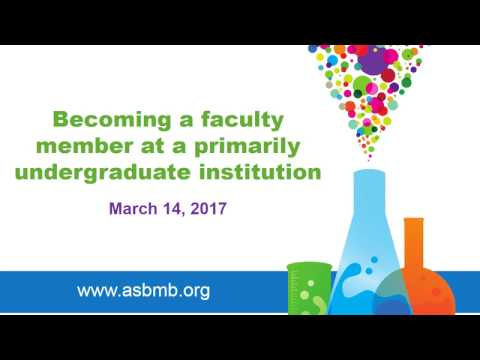 Becoming a faculty member at a primarily undergraduate institution