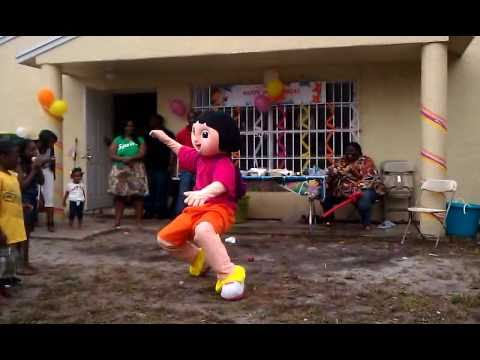 Hood Dora At 2yo Birthday Party Youtube