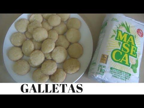 Galletas de Maseca (harina de maiz) azucaradas muy fácil!