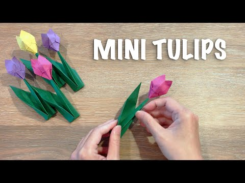 How To Make Paper Tulips / Simple Origami Tulips