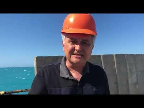 Girão cobra governos do PT por falha em obra no porto de Areia Branca